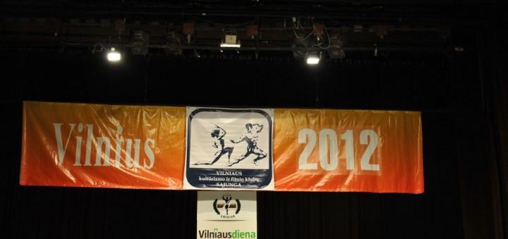 Atviros Vilniaus miesto kultūrizmo ir fitneso čempionatas, 2012 m.