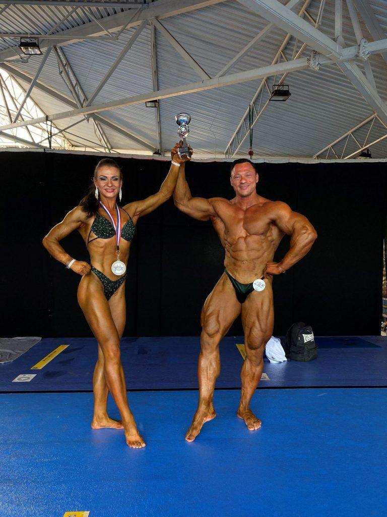 Europos čempionato sidabro ir bronzos medalių laimėtojai Julita Ciunytė ir Andrius Talačka