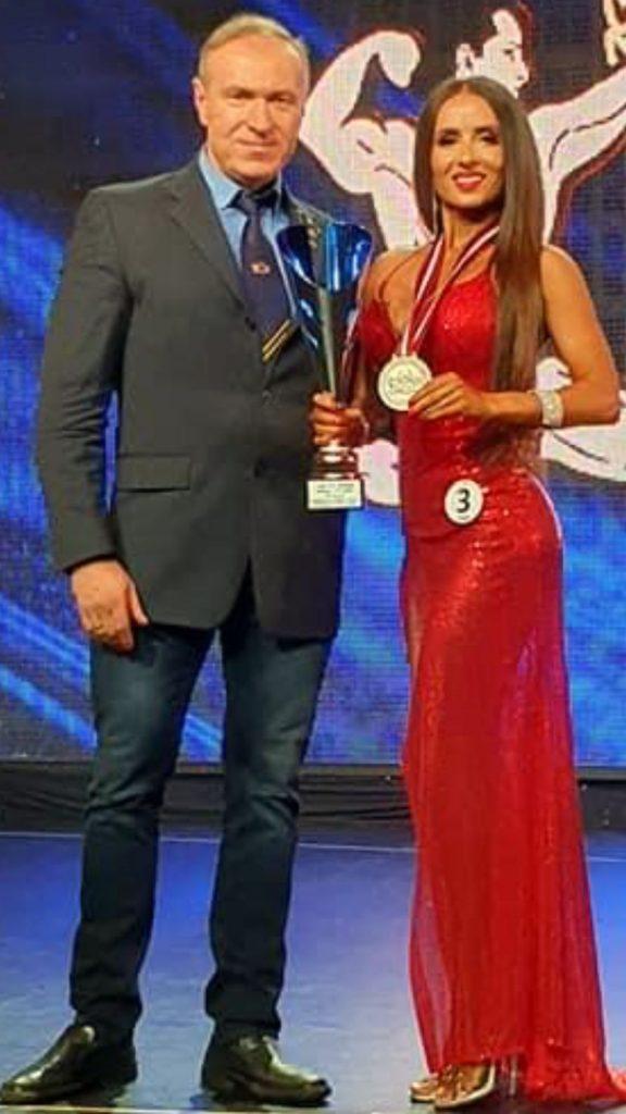 Kristina Mickienė ir treneris R.Česnaitis
